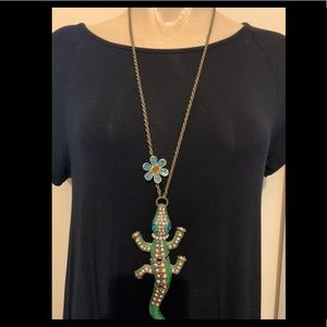 Betsy Johnson alligator necklace